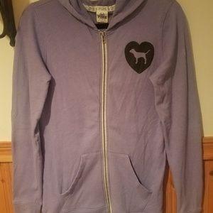 Victoria's Secret Love Pink purple logo hoodie xs